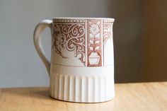 Brown Transferware Pitcher or Creamer Aesthetic by FalconandFinch, $50.00