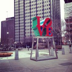 Love Park in Philadelphia...where Joseph asked me to marry him on 2/9/2013...made me the happiest girl in the world. xo