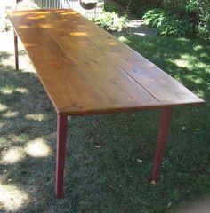 Farm table, reclaimed wood