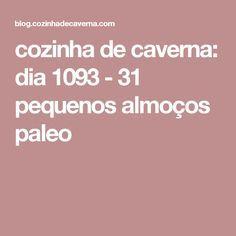 cozinha de caverna: dia 1093 - 31 pequenos almoços paleo