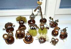 Kastanienmännchen - Herbstdeko basteln mit Kastanien - DIY Bastelideen