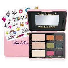 Too Faced Totally Cute Eye Palette found on Polyvore featuring beauty products, makeup, eye makeup, eyeshadow, multi, too faced cosmetics and palette eyeshadow