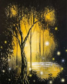 Check out Magical Forest II at Mellow Mushroom - Paint Nite Swing Painting, Forest Painting, Painting & Drawing, Fantasy Landscape, Fantasy Art, Magical Forest, Dark Forest, Learn To Paint, Pictures To Paint