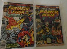 Vintage 2 Marvel Comic Books Fantastic Four 1975 & 1979 Superhero comics find me at www.dandeepop.com