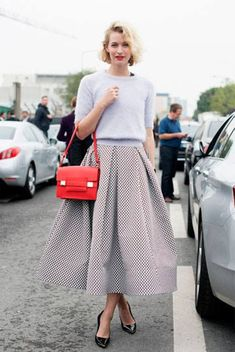 Midi skirt // Zanita. Check out my latest post on http://theclosetcook.com/2014/04/08/trend-tuesday-the-midi-skirt/