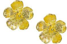 Ottoman Hands - Buttercup Gold Flower Stud Earrings