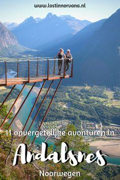 11 tips voor avonturen in Åndalsnes - Lost in Norvana Spain Travel, Travel Europe, Alesund, Europe Destinations, Adventure Time, Finland, Denmark, Norway, The Good Place