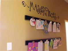 Bing : kids art display ideas- what about principal's office