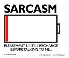 sarcasm uniform... an explanation as well as a call to arms... and chests...