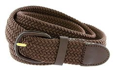 2b49ce84b34 Hagora Men Stretch Comfy Braided Fabric 1 14 Wide Leather Covered Buckle  Belt  belts