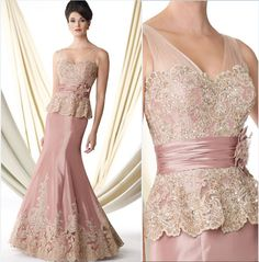 Elegante Rosa Claro Vestido de