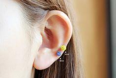 4mm 점토볼 피어싱 / 4mm cubic ball piercing : 악어샵