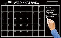 Home & Office Decor Chalk Board Blackboard Monthly Calendar Vinyl Wall Sticker (Size: 60*45cm)
