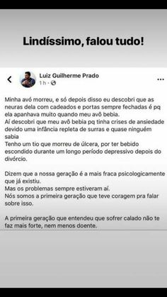 Os problemas sempre estiveram aí. Nós somos a primeira geração que teve coragem pra falar sobre isso. A primeira geração que entendeu que sofrer calado não te faz mais forte, nem menos doente. Cool Phrases, Stupid Love, Little Memes, Simple Quotes, Truth Of Life, Motivational Phrases, Dear Diary, Deep Words, Real Friends