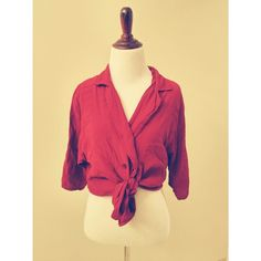 Red vintage crepe top Vintage. 2 buttons. Color is shown in pic 1. I dont know why pic 2 is so light! Tag says size 9/10 but best fits an oversized small or medium. Raspberry color. Not uo Urban Outfitters Tops