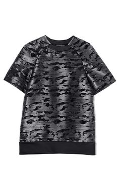 Alexander Wang Foil Printed Cocoon Back Tee Style Homme 700e45583dc