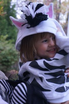 namesake design: Handmade Halloween - Pirate and Zebra Costume - DIY