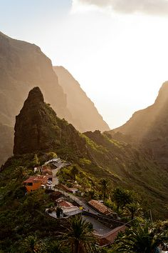 Mountain Village of Teno in Tenerife, Spain