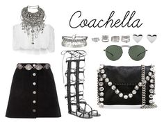 """Coachella Day 2"" by anaelle2 ❤ liked on Polyvore featuring Valentino, Miss Selfridge, Miguelina, Gypsy, Erickson Beamon, STELLA McCARTNEY, Mykita, Cartier, AllSaints and Forever 21"