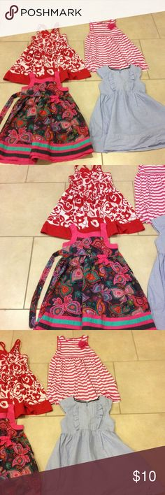 Size 6 bundle of (4) sundresses good condition Bundle size 6 sundresses Nautica and Gymboree and Youngland and Design history good condition Dresses