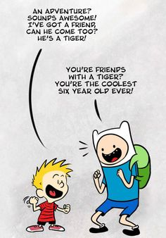 Finn and Calvin. Though somehow I expected a different reaction from Calvin