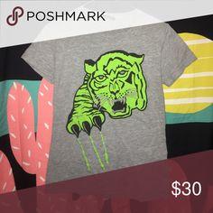 Clawmoney green tiger tee Scary green tiger! Clawmoney! Clawmoney Tops Tees - Short Sleeve
