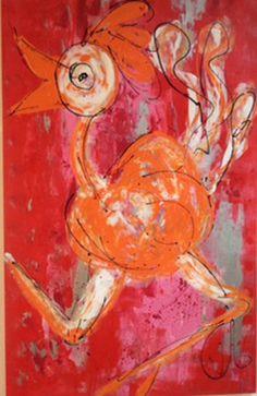 CarinArt   Kunstschilder Uden, kleurrijke en abstracte kunst   Dieren Prints, Painting, Art, Art Background, Painting Art, Kunst, Paintings, Performing Arts, Painted Canvas