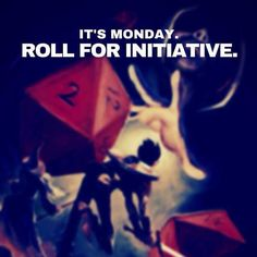 Roll for initiative! #MakeItHappenMonday #dnd #dungeonsanddragons #rpg #tabletop