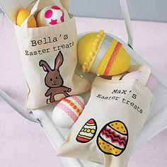 Sparks clothing personalised decorative egg easter hunt bag personalised easter egg hunt bag ribbon wrap negle Choice Image