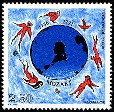 Bicentenaire de la mort de Mozart - Timbre de 1991