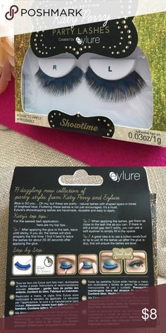 Limited Edition Katy Perry Party Lashes These Limited Edition Katy Perry Party Lashes have never been used, I did open package once only to realize that the lash glue was not in the box as advertised so then, they sat unused. Haven't had a reason to use them since!  New with tags but NO glue included. Katy Perry Makeup False Eyelashes