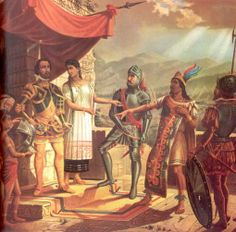 The Spaniards returned a year after being driven away, and sieged Tenochtitlán for 90 days. On August 13, 1521, Cuauhtémoc was captured by Cortés while quietly fleeing with his family. When faced with the Spaniard, Cuauhtémoc handed him a knife and told Cortés that he could do as he pleased with it, death to the tlatoani being the better course of action. Cortés wasn't interested in Cuauhtémoc's death at the moment, and had him tortured to reveal the whereabouts of the mythic Aztec treasure.