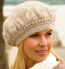 Зимний берет спицами из мохера | ВЯЗАНИЕ ШАПОК: женские шапки спицами и крючком, мужские и детские шапки, вязаные сумки