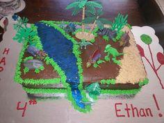 Dinosaur land cake