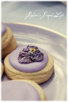 Sylvia's Simple Life: Spring Afternoon Tea - crystallized violets