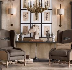 La Maison Gray - Interiors ▇  #Home #Design #Decor  via IrvineHomeBlog - Christina Khandan - Irvine, California ༺ ℭƘ ༻