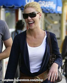 Katherine Heigl laughing away in her Jee Vice sunnies, the Dyslexic s in  Oyster a0884c29a1