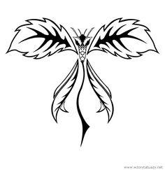 Tatuaż przedstawiający Roślina - motyl w serwisie z tysiącem wzorów tatuaży sprawdź: http://www.wzorytatuazy.net/roslina-motyl