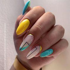 Cute Summer Nail Designs, Cute Summer Nails, Beautiful Nail Designs, Nail Summer, Summer Nails Almond, Crazy Nail Designs, Beautiful Beautiful, Spring Nails, Minimalist Nails