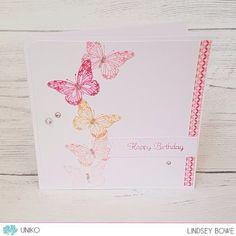 Uniko Studio stamps.  Butterflies