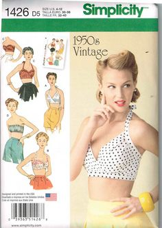 Bra Bathing Suit Tops Retro Vintage 1950s Style by PeoplePackages