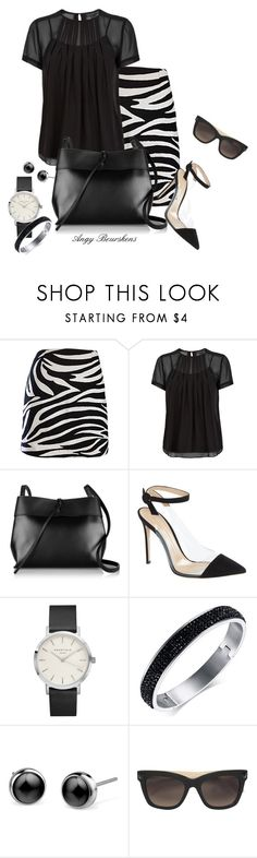 """""""Black & White"""" by angy-beurskens ❤ liked on Polyvore featuring Marc by Marc Jacobs, Kara, Gianvito Rossi and Valentino"""