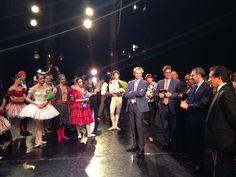 #ScalAstana #DonQuixote - 30/06/2014 - Ambassador Alberto Pieri congratulates our Ballet Company www.teatroallascala.org/en/season/tours/2013-2014/kazakistan/don-quixote.html