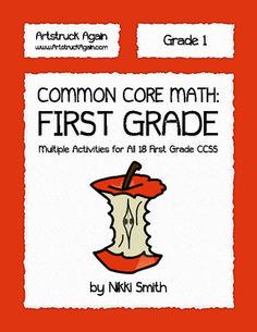 Common Core Math: First Grade  Multiple activities for ALL 18 first grade Common Core State Standards!