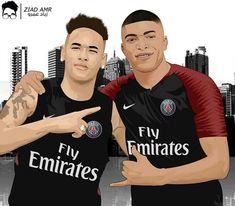 Football Player Drawing, Neymar Jr, Cristiano Ronaldo, Football Players, Paris, Sport, Drawings, Soccer Photography, Team T Shirts