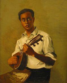 André Derain, Le noir à la mandoline, ca oil on canvas Edouard Vuillard, Manet, Renoir, Art Fauvisme, Felix Vallotton, André Derain, Mandoline, Most Famous Paintings, Paintings