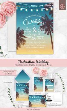 Beach Wedding Itinerary Corjl Template Wedding Welcome | Etsy Postcard Wedding Invitation, Indian Wedding Invitations, Wedding Rsvp, Wedding Invitation Templates, Wedding Signs, Destination Wedding, Wedding Timeline, Digital Invitations, Printable Invitations