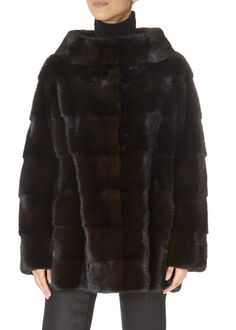 Brown Fur Collar Mink Coat by Greek brand 'Centropel' features a high collar and an adjustable string. It is the gorgeous coat you need for your winter occasions! Mink Jacket, Winter Coats Women, High Collar, Fur Collars, Black Belt, Fur Coat, London, Brown, Jackets