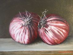 Two Onions,acrylic on canvas BY LOUISE GROVE WIECHERS