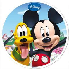 Disco de oblea Mickey y Pluto 20cm